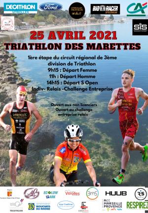 Triathlon des MARETTES (Vitrolles) 2021